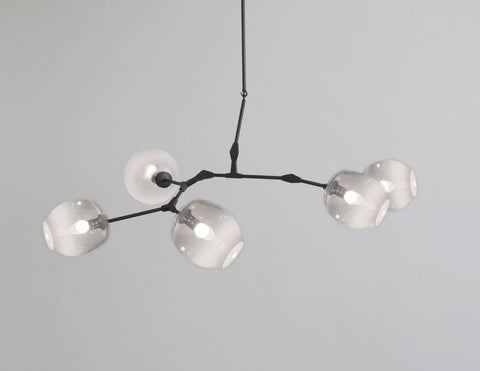 Replica 5 Arm Branching Bubble Chandelier by Lindsey Adelman