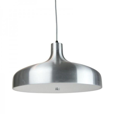 Aella Classic Pendant in Aluminium Black or White 42cm She Lights - Alpha Lighting & Electrics