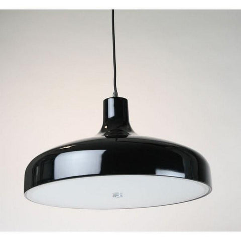 Aella Classic Pendant in Aluminium Black or White 42cm She Lights