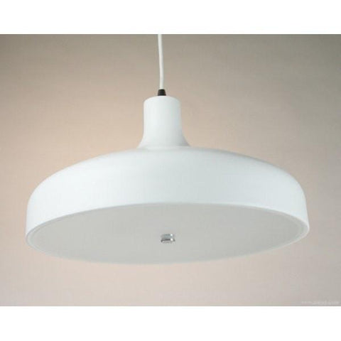 Aella Classic Pendant in Aluminium Black or White 42cm She Lights | Alpha Lighting & Electrics