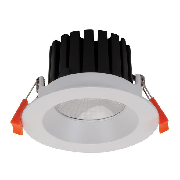 Domus Lighting AQUA-13 Round 13W LED Dimmable Downlight IP65 - Satin White Frame