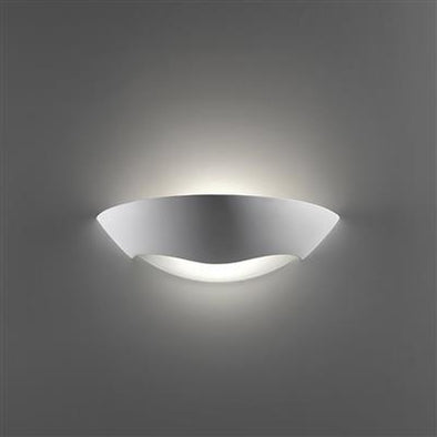 Wall Light Raw Ceramic w Frosted Glass E27 in 36cm BF-8258 Domus Lighting