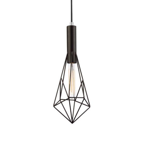 CLA Lighting Black Cage Diamond Pendant