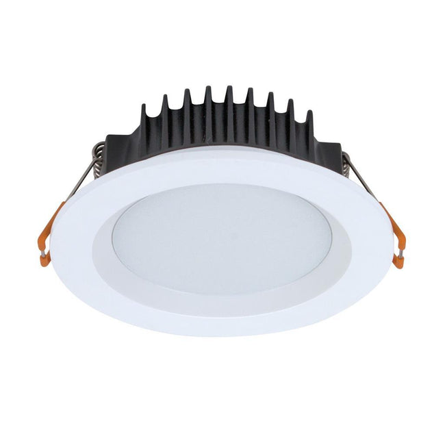 Domus Lighting BOOST-10 Round 10W Dimmable Colour Change Switchable LED Downlight - White Frame