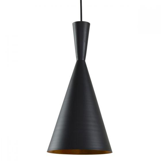 CLA Lighting Caviar Matt Black Cone Metal Pendant