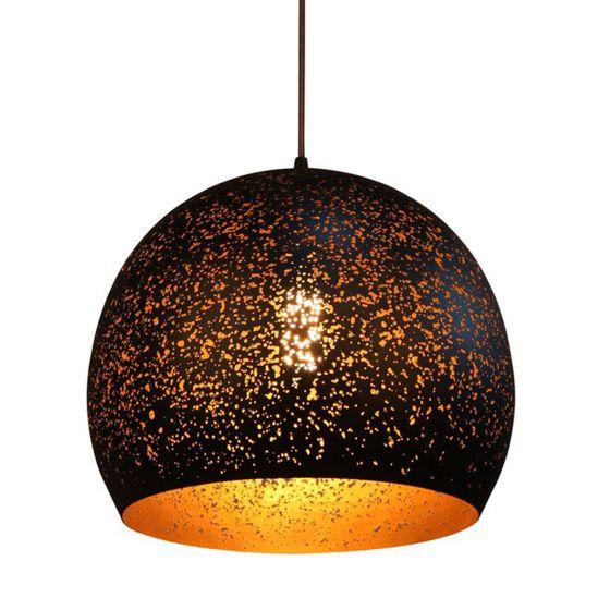 CLA Lighting Celeste Black Dome Metal Pendant