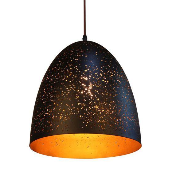 CLA Lighting Celeste Black Bell Metal Pendant