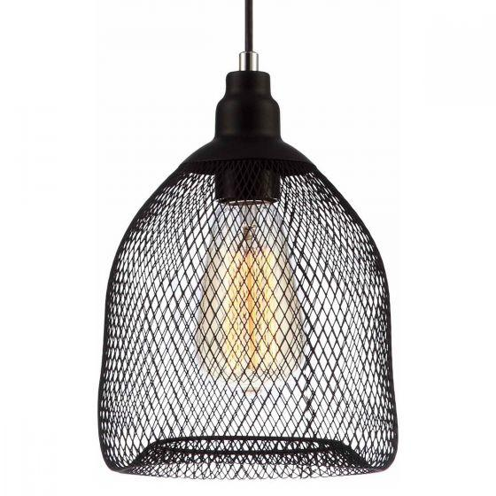 CLA Lighting Cheveux Black Mesh Bird Cage Pendant