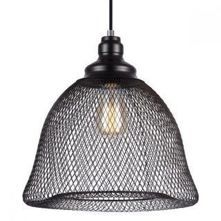 CLA Lighting Cheveux Black Mesh Bell Pendant