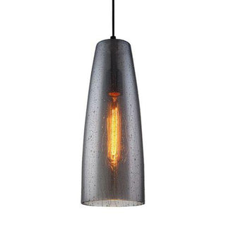 CLA Lighting Chuva Ellipse Pendant Smoke Black