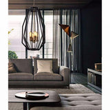 CLA Lighting Gamba Narrow Angular Cage 4 Light Pendant Black