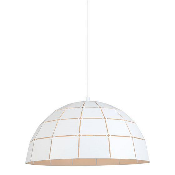 CLA Lighting Armis Dome Pendant in Matt White Champagne Gold and Coffee