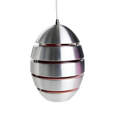 Crius Pendant in Aluminium Metal 34cm She Lights - Alpha Lighting & Electrics