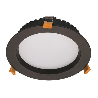 Domus Lighting DECO-20 Round 20W Dimmable LED Downlight - Black Frame