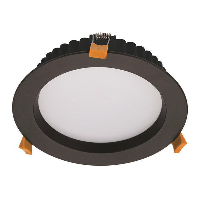 Domus Lighting DECO-20 Round 20W Dimmable LED Downlight - Black Frame | Alpha Lighting & Electrics