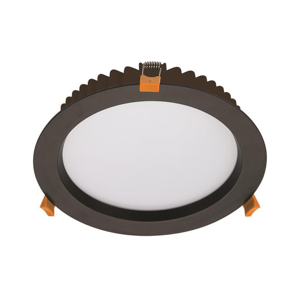 Domus Lighting DECO-28 Round 28W Dimmable LED Downlight - Black Frame