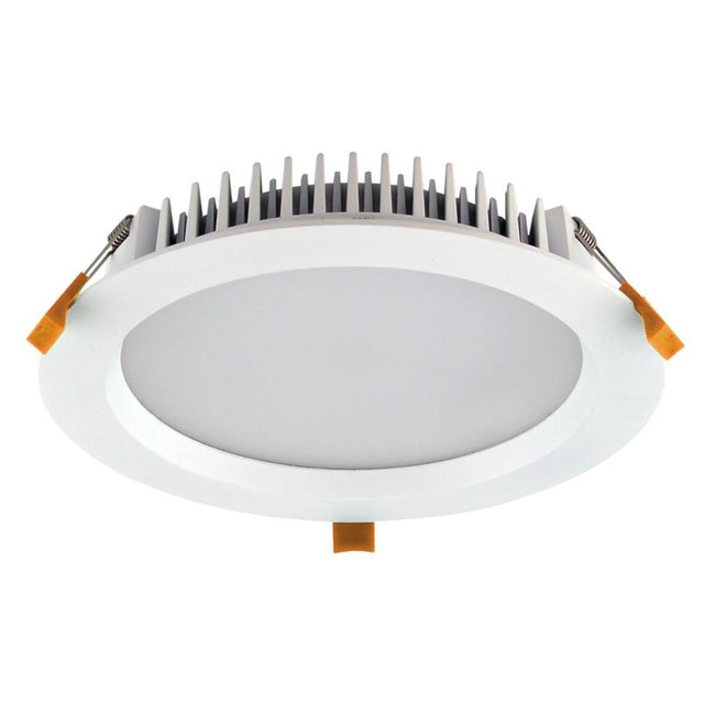 Domus Lighting DECO-28 Round 28W Dimmable LED Downlight - White Frame | Alpha Lighting & Electrics