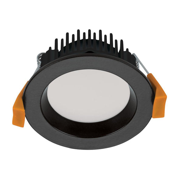 Domus Lighting DECO-8 Round 8W Dimmable LED Downlight - Black Frame