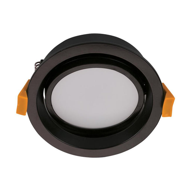 DECO-TILT Round 13W Dimmable LED Tilt Downlight - Black Frame