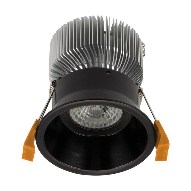 Domus Lighting DEEP-90 Round 13W Deepset LED Downlight - Black Frame | Alpha Lighting & Electrics