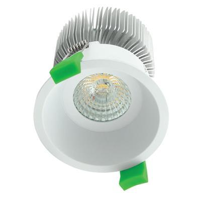 Domus Lighting DEEP-75 Round 10W Deepset LED Downlight - White Frame | Alpha Lighting & Electrics