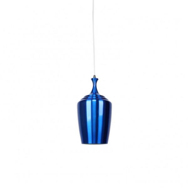 Eva Tall Pendant in Flame Red Metal 36cm She Lights