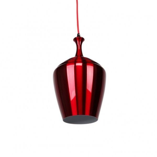 Eva Wide Pendant in Blue Flame Red or Wine Red Metal 32cm She Lights - Alpha Lighting & Electrics