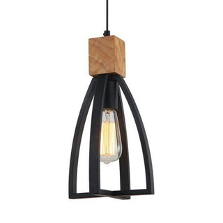 CLA Lighting Faro Industrial Black Metal Pendant