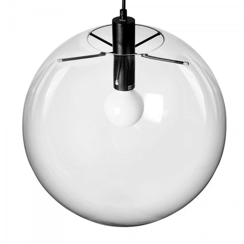 Replica Selene Pendant Glass Light by Sandra Lidner in Black