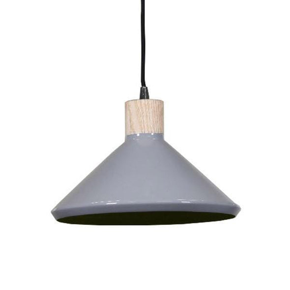Bengt Pendant Light Grey or White Aluminium 28cm She Lights - Alpha Lighting & Electrics