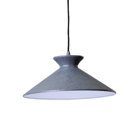 Bengta Pendant Light Grey Black White or Red Aluminium 36cm She Lights - Alpha Lighting & Electrics