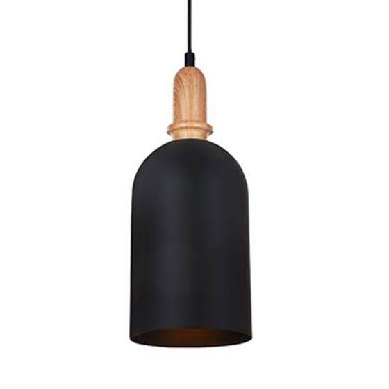 CLA Lighting Horten Cylindrical Metal Pendant Matt White