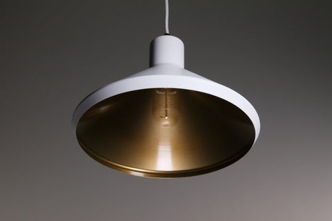 Bengt Pendant Light Copper Black or White Aluminium 28cm She Lights - Alpha Lighting & Electrics
