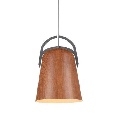 CLA Lighting Legna Salem Oak Ellipse Shaped Pendant