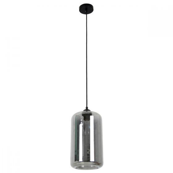 CLA Lighting Mason Oblong Shaped Pendant in Amber Clear and Smoked Glass