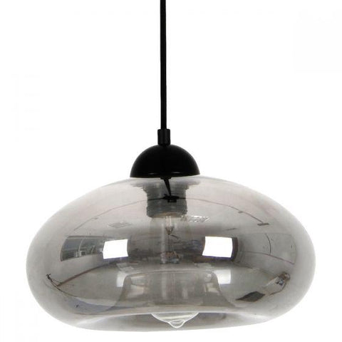 CLA Lighting Mason Oval Shaped Pendant in Amber Clear and Smoked Glass