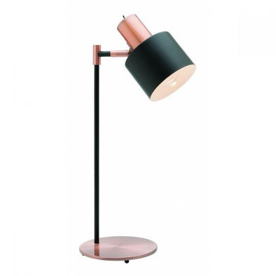 Mercator Benjamin Table Lamp Matt Black and Antique Copper