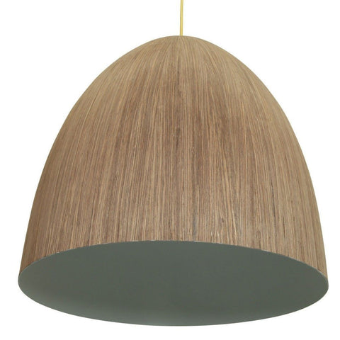 Cacia Pendant Wood Veneer 1 Metal 50cm She Lights - Alpha Lighting & Electrics