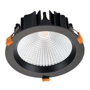Domus Lighting NEO-25 Round 25W Dimmable LED Downlight - Black Frame | Alpha Lighting & Electrics