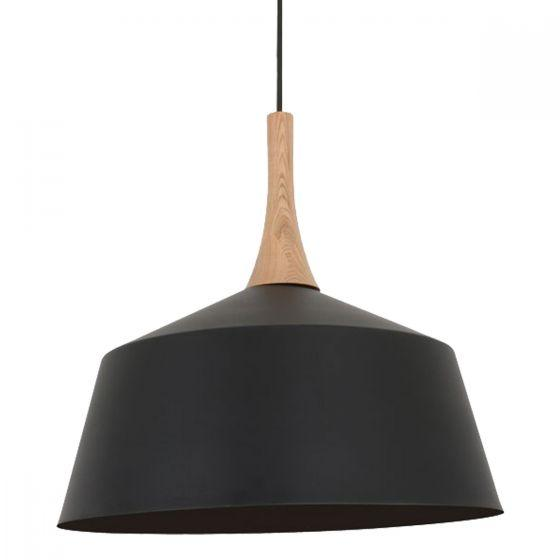 CLA Lighting Nordic Metal and Timber Pendant Medium