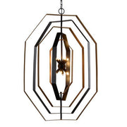 CLA Lighting Orbita Bronze and Antique Gold Pendant