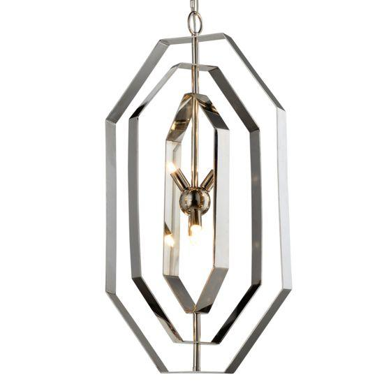 CLA Lighting Orbita Polished Nickel and Stainless Steel Pendant
