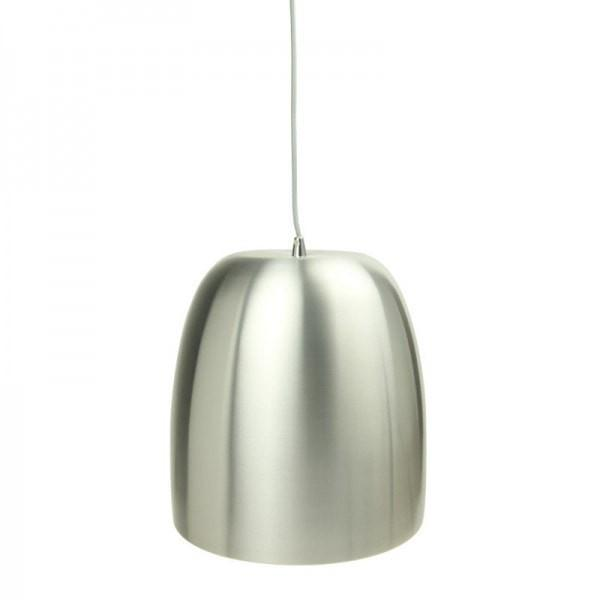 Pluto Pendant in Aluminium Matt Black or White Metal 30cm She Lights | Alpha Lighting & Electrics