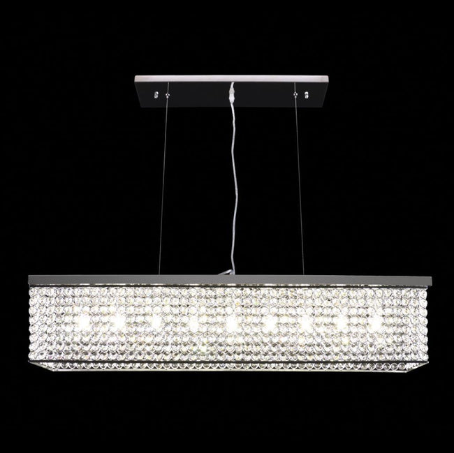 Domus Lighting Rainbow Medium LED Pendant Crystal Light G9