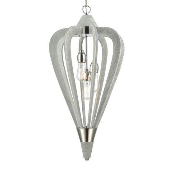 CLA Lighting Señorita Medium Timber Pendant Winter Moss
