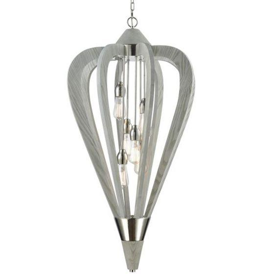 CLA Lighting Señorita Large Timber Pendant Winter Moss
