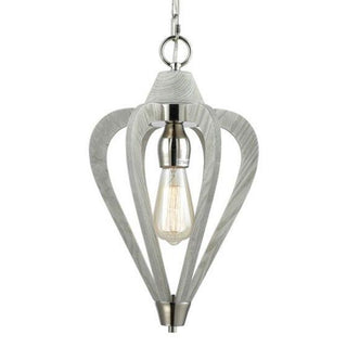 CLA Lighting Señorita Small Timber Pendant Winter Moss