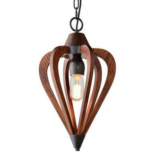 CLA Lighting Señorita Small Arrow Pendant Tuscan Coffee Cherry Wood