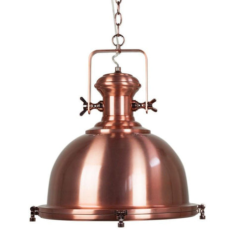 Gaia Industrial Pendant Metal 40cm She Lights - Alpha Lighting & Electrics