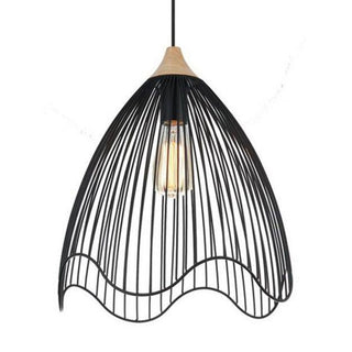 CLA Lighting Spiaggia Cone Pendant in Black or White Metal